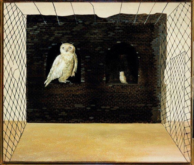 Ország Lili: Bagoly hálóban, 1955, olaj, vászon