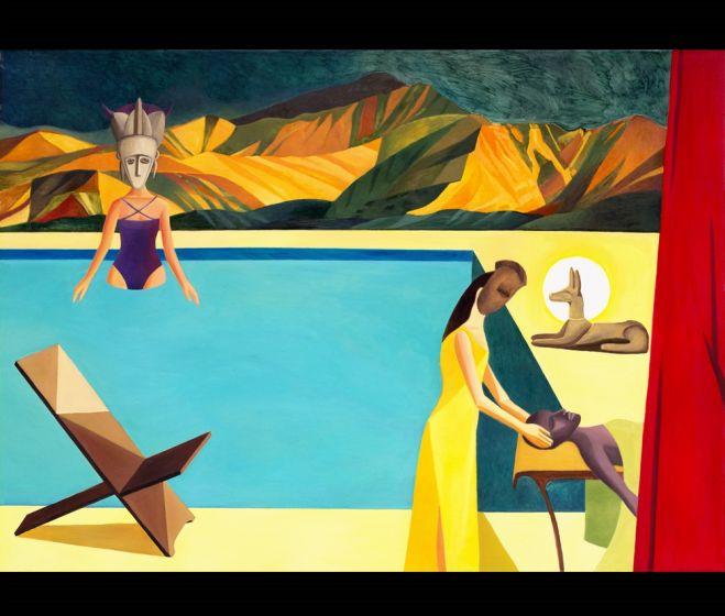 Kinga Nowak, Alámerülés, 2013, olaj, vászon, 150 x 225 cm