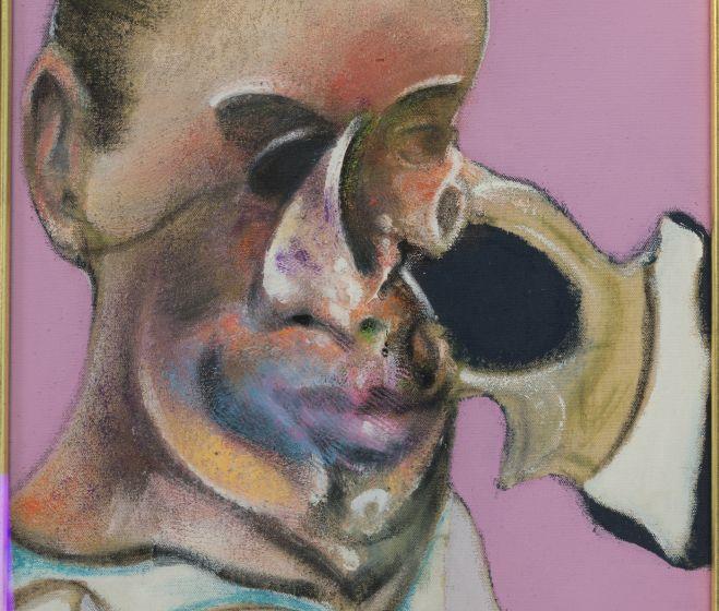Francis Bacon, Férfi portré tanulmánya, olaj, vászon, 28x33 cm