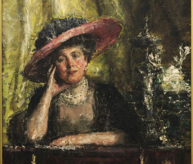 Antonio Mancini, Lady Philips, 1909, olaj, vászon, 75 x 89.1 cm
