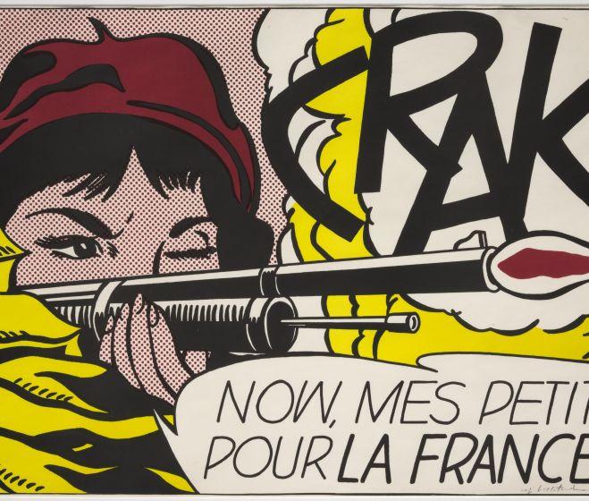 Roy Lichtenstein, Crack!, színes litográfia, 47,3x68,2 cm