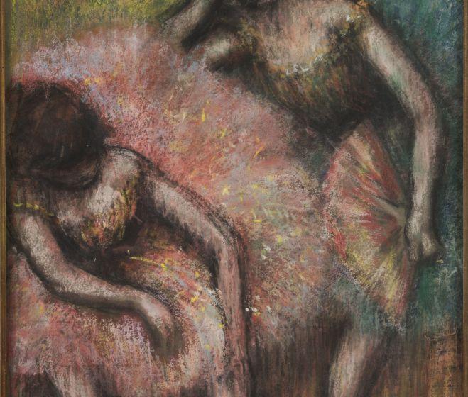 Edgar Hilaire Degas, Két táncos, 1898, pasztell 32,7x48 cm