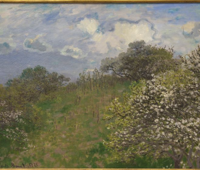 Monet, Claude, Les Printemps, 1875, oil painting, 58 x 78.5 cm