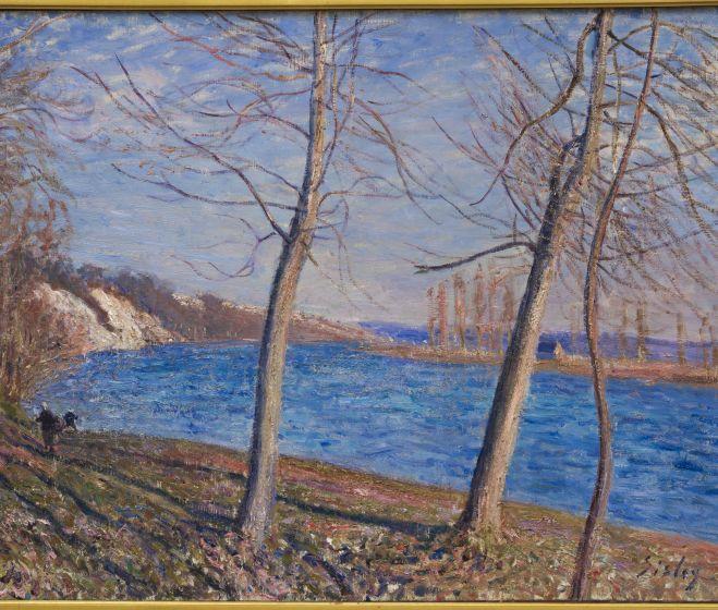 Alfred Sisley, Folyópart Veneux-nél, 1881, olaj, vászon 59x79 cm