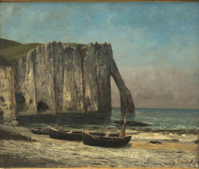 Gustav Courbet, Etretat sziklái, 1869, olaj, vászon 74,5x62 cm