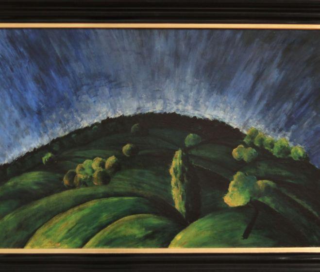 Moholy-Nagy László, Budai hegyek, 1918, olaj, vászon, 63x94cm