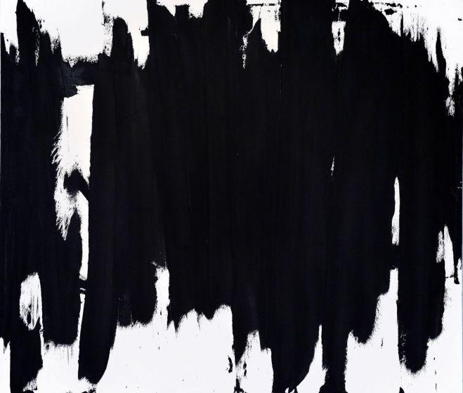 Reigl Judit emlékére: Tömbírás, 1964, olaj, vászon, 207x230 cm