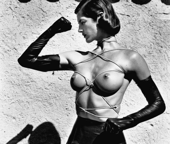 Helmut Newton, Tied up Torso, silver print, 1980