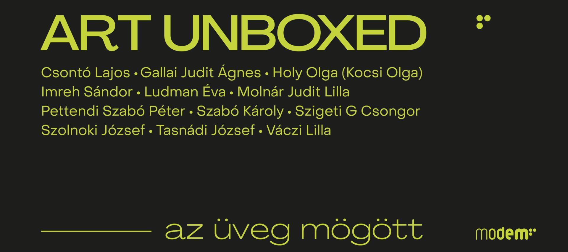 Art Unboxed – az üveg mögött